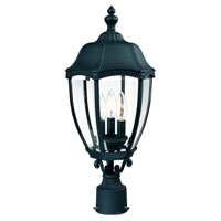 Roseville 3 Light 22 inch Black Exterior Post Lantern