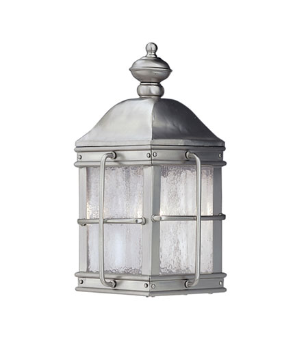 Designers Fountain Newport 1 Light Outdoor Wall Lantern in Pewter 1052-PW photo