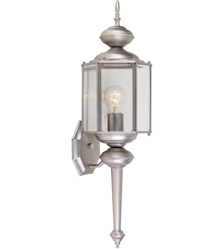 Designers Fountain Beveled Glass Lanterns 1 Light Outdoor Wall Lantern in Pewter 1103-PW photo