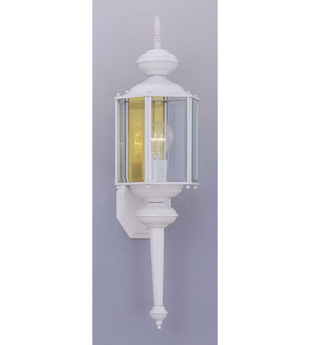 Designers Fountain Beveled Glass Lanterns 1 Light Outdoor Wall Lantern in White 1103-WH photo