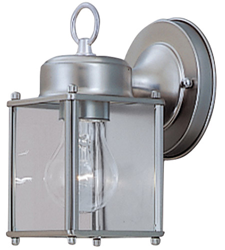 Designers Fountain 1161-PW Basic 1 Light 8 inch Pewter Outdoor Wall Lantern photo