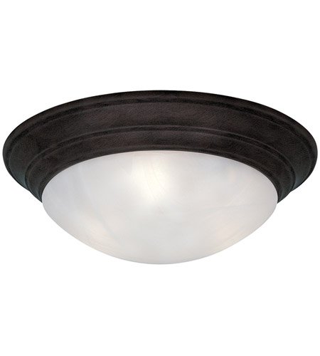 Designers Fountain 1245L-ORB Lunar 3 Light 17 inch Oil Rubbed Bronze Flushmount Ceiling Light in White Alabaster photo
