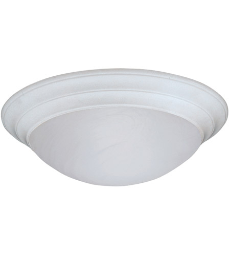 Designers Fountain 1245L-WH Lunar 3 Light 17 inch White Flushmount Ceiling Light in White Alabaster photo