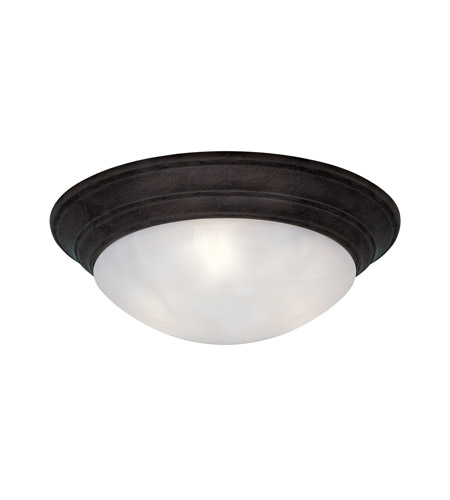 Lunar 4 Light 20 Inch Oil Rubbed Bronze Flushmount Ceiling Light