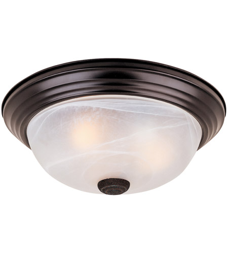 Designers Fountain 1257S-ORB-AL Decorative 2 Light 11 inch Oil Rubbed Bronze Flushmount Ceiling Light in White Alabaster photo