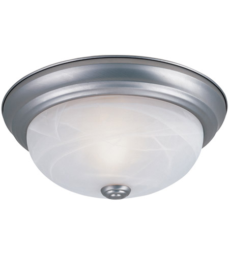 Designers Fountain 1257S-PW-AL Signature 2 Light 11 inch Pewter Flushmount Ceiling Light in White Alabaster photo