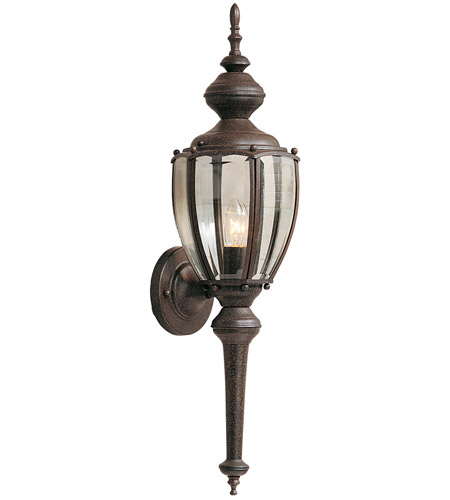 Designers Fountain Beveled Glass Lanterns 1 Light Outdoor Wall Lantern in Rust Patina 1273-RP photo