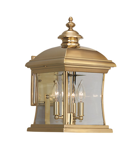 Designers Fountain Buckingham 3 Light Outdoor Wall Lantern in Polished Brass 1681-PVD-PB photo