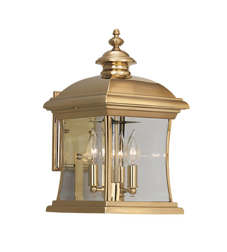 Designers Fountain Buckingham 4 Light Outdoor Wall Lantern in Polished Brass 1691-PVD-PB photo
