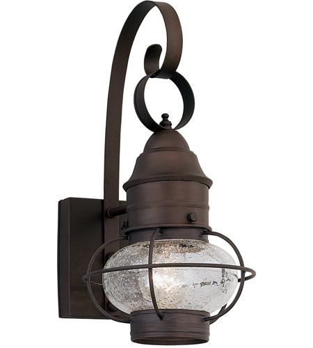 Designers Fountain Nantucket 1 Light Outdoor Wall Lantern in Rustique 1761-RT photo