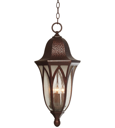 Designers Fountain 20634-BAC Berkshire 4 Light 11 inch Burnished Antique Copper Outdoor Hanging Lantern photo