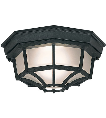Designers Fountain 2067-BK Builder 1 Light 11 inch Black Outdoor Flushmount photo