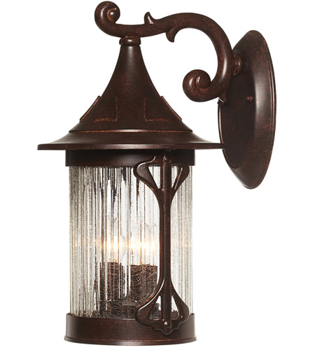 Designers Fountain 20921-CHN Canyon Lake 3 Light 16 inch Chestnut Outdoor Wall Lantern photo