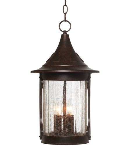 Designers Fountain 20934-CHN Canyon Lake 4 Light 11 inch Chestnut Outdoor Hanging Lantern photo