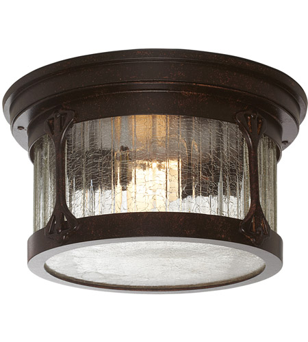 Designers Fountain 20935-CHN Canyon Lake 2 Light 12 inch Chestnut Outdoor Flushmount photo