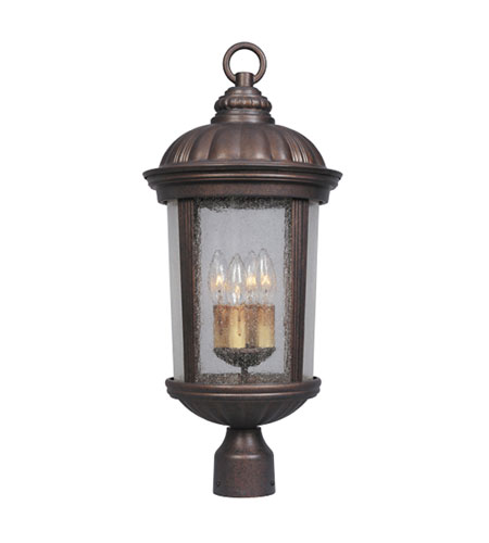 Designers Fountain Hampton Court 4 Light Post Lantern in Mediterranean Patina 21236-MP photo