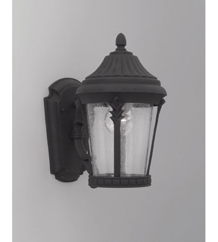 Designers Fountain Clermont 1 Light Outdoor Wall Lantern in Black 2242-BK photo