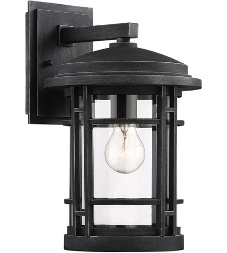 Barrister 1 Light 15 Inch Weathered Pewter Outdoor Wall Lantern