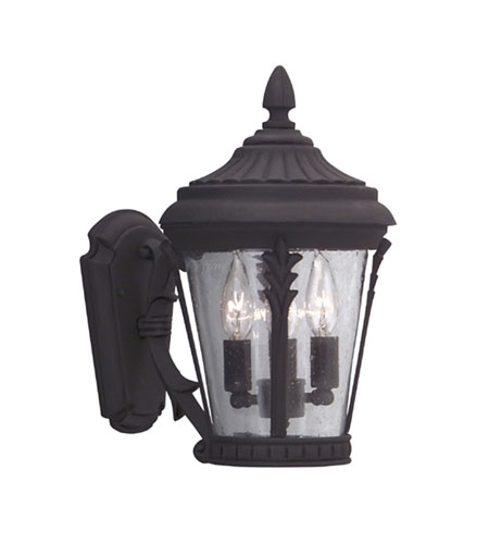 Designers Fountain Clermont 3 Light Outdoor Wall Lantern in Black 2252-BK photo