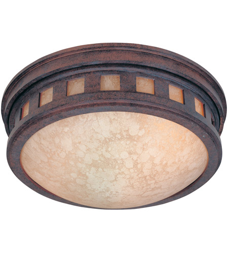 Designers Fountain 2375-AM-MP Sedona 2 Light 13 inch Mediterranean Patina Outdoor Flushmount photo