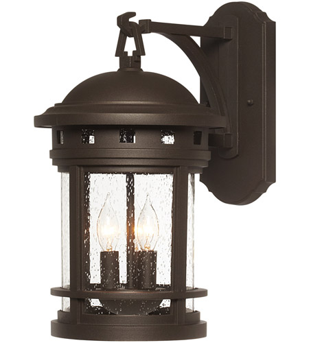 Designers Fountain 2381 ORB Sedona 3 Light 16 Inch Oil Rubbed Bronze Outdoor  Wall Lantern