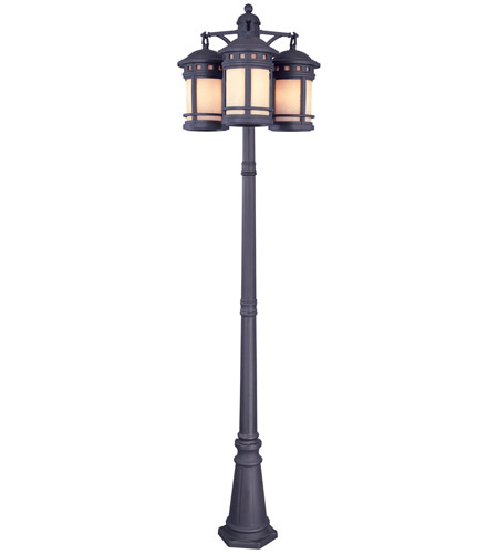 Designers Fountain 23813-AM-ORB Sedona 9 Light 86 inch Oil Rubbed Bronze Outdoor Post Lantern, Post Included photo
