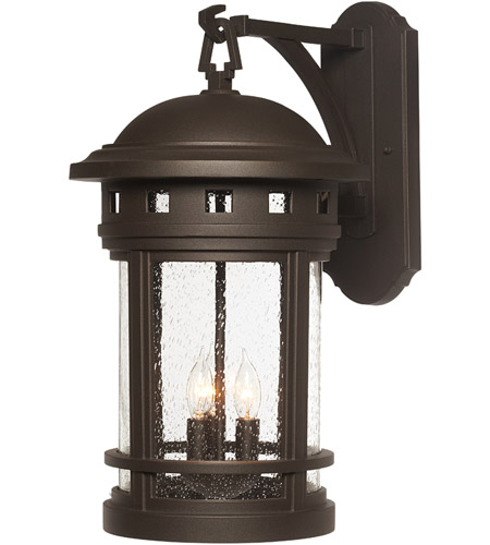 Designers Fountain Sedona 3 Light Outdoor Wall Lantern in Oil Rubbed Bronze 2391-ORB photo