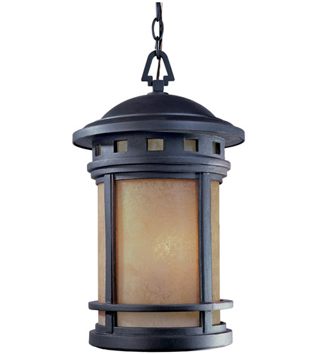 Designers Fountain 2394-AM-ORB Sedona 3 Light 11 inch Oil Rubbed Bronze Outdoor Hanging Lantern in Amber photo