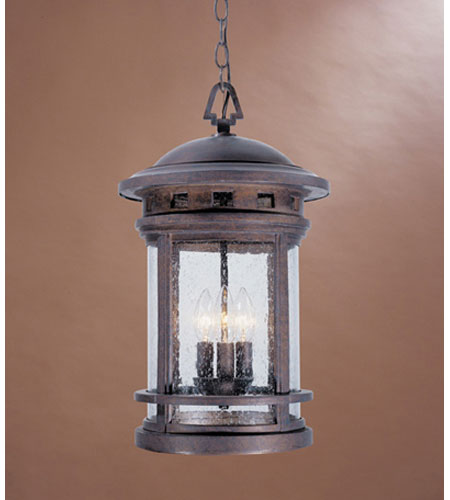 Designers Fountain Sedona 3 Light Outdoor Hanging Lantern in Mediterranean Patina 2394-MP photo