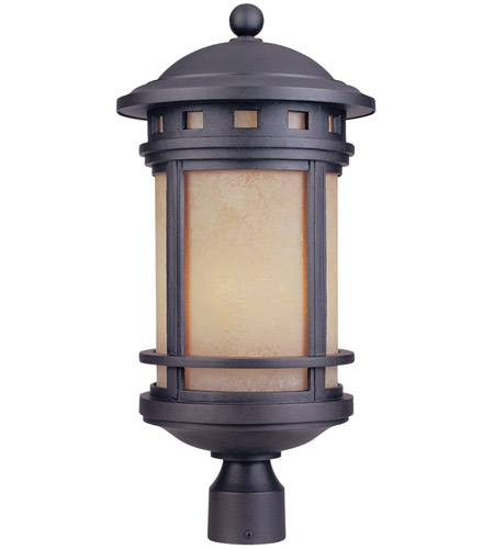Designers Fountain 2396-AM-ORB Sedona 3 Light 23 inch Oil Rubbed Bronze Post Lantern in Amber photo