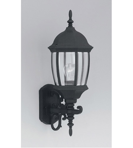 Designers Fountain Tiverton 1 Light Outdoor Wall Lantern in Black 2422-BK photo