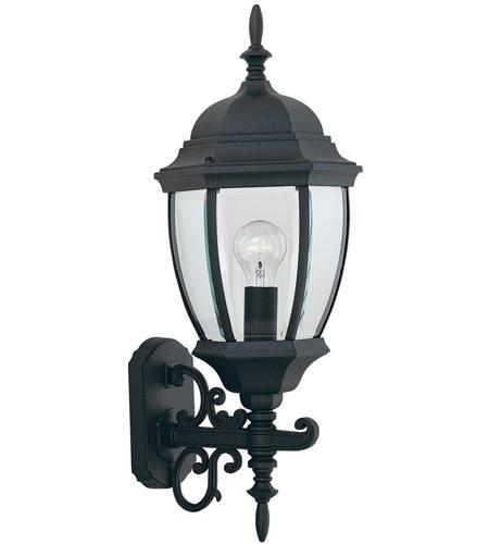 Designers Fountain Tiverton 1 Light Outdoor Wall Lantern in Black 2432-BK photo