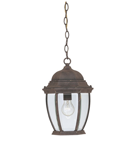 Designers Fountain Tiverton 1 Light Outdoor Hanging Lantern in Autumn Gold 2434-AG photo