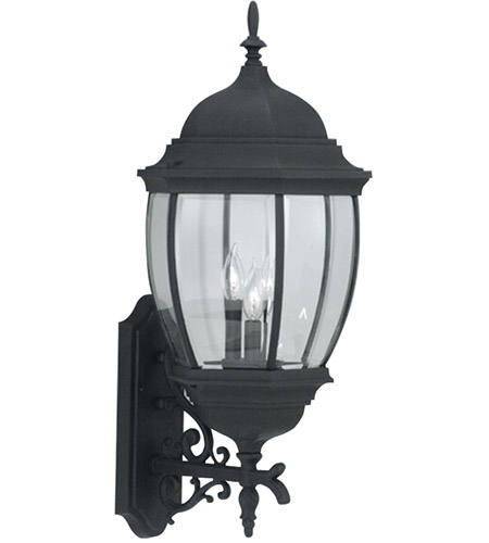 Designers Fountain 2442-BK Tiverton 3 Light 29 inch Black Outdoor Wall Lantern photo