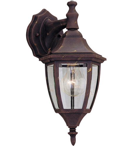 Designers Fountain Signature Cast Aluminum 1 Light Outdoor Wall Lantern in Autumn Gold 2461-AG photo