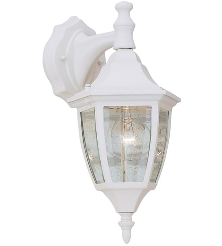 Designers Fountain Signature Cast Aluminum 1 Light Outdoor Wall Lantern in White 2461-WH photo