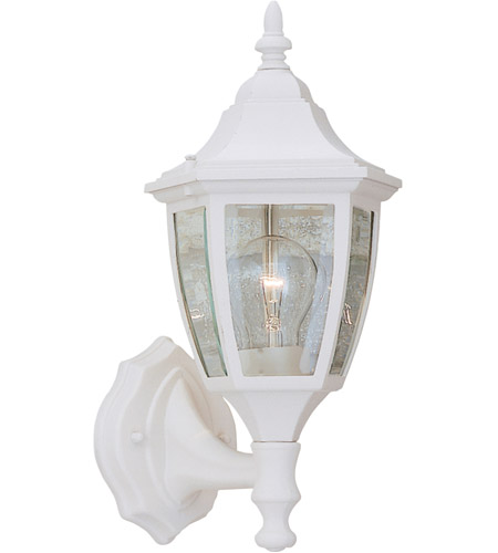 Designers Fountain Signature Cast Aluminum 1 Light Outdoor Wall Lantern in White 2462-WH photo