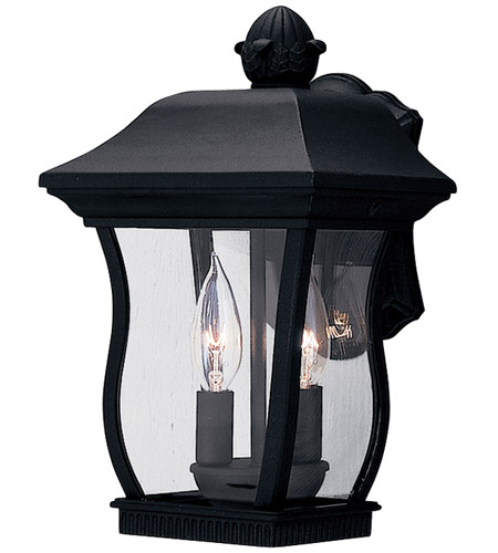 Designers Fountain 2712-BK Chelsea 2 Light 13 inch Black Outdoor Wall Lantern photo