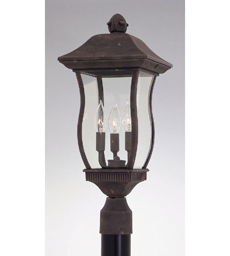 Designers Fountain Chelsea 3 Light Post Lantern in Autumn Gold 2726-AG photo