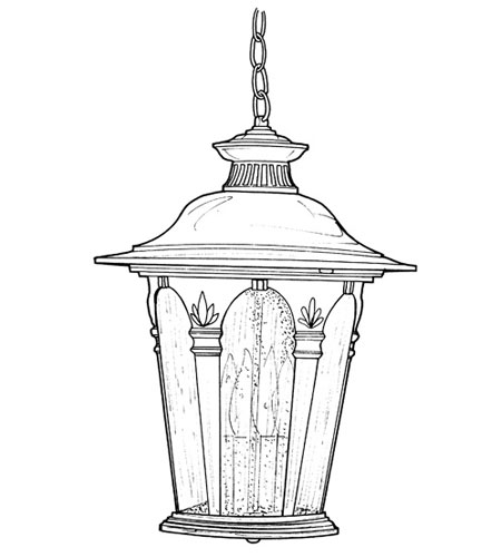 Designers Fountain Quintessence 4 Light Outdoor Hanging Lantern in Autumn Gold 2844-AG photo