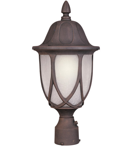 Designers Fountain Capella 1 Light Post Lantern in Autumn Gold 2866-AG photo