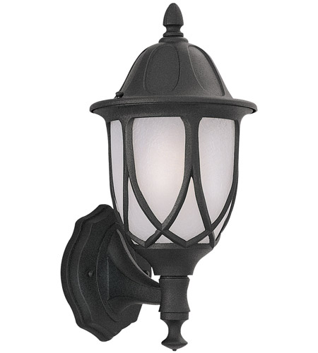 Designers Fountain Capella 1 Light Outdoor Wall Lantern in Black 2867-BK photo