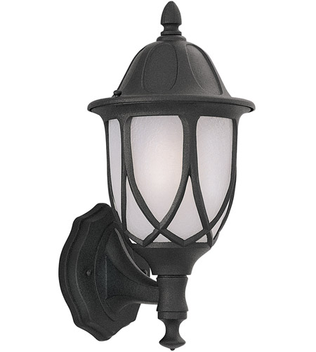 Designers Fountain 2868-BK Capella 1 Light 18 inch Black Outdoor Wall Lantern photo