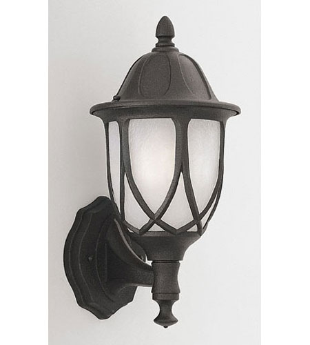 Designers Fountain Capella 1 Light Outdoor Wall Lantern in Black 2869-BK photo