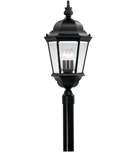 Designers Fountain 2956-BK Builder 3 Light 28 inch Black Outdoor Post Lantern photo