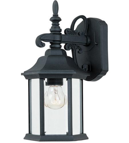 Designers Fountain 2961 Bk Devonshire 1 Light 14 Inch Black Wall Lantern