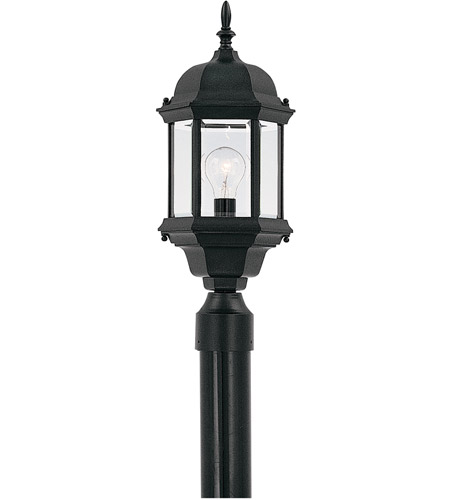 Designers Fountain Devonshire 1 Light Post Lantern in Black 2976-BK photo