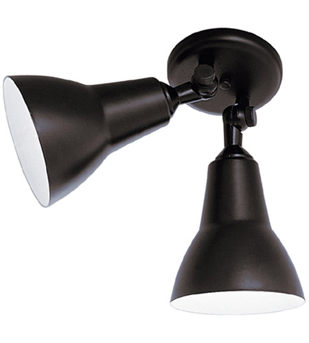 Designers Fountain 2994-BK Bullet 2 Light 6 inch Black Outdoor Flushmount photo