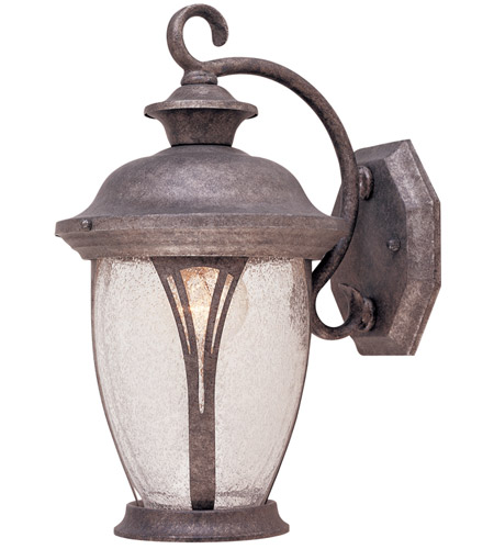 Designers Fountain 30511-RS Westchester 1 Light 13 inch Rustic Silver Outdoor Wall Lantern in Seedy