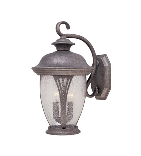 Designers Fountain Westchester 2 Light Outdoor Wall Lantern in Rust Silver 30521-RS